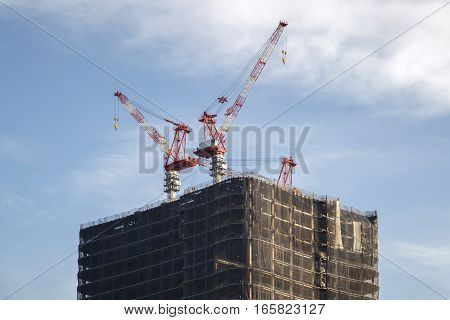 Buildings Construction In Tokyo, Japan