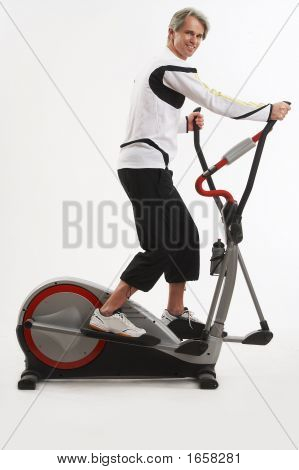 Man On The Exercise Equipment