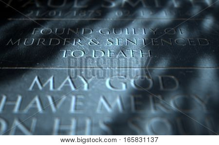 Gravestone Of Convicted Murderer