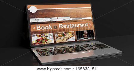 3D Rendering Restaurant Online Reservation
