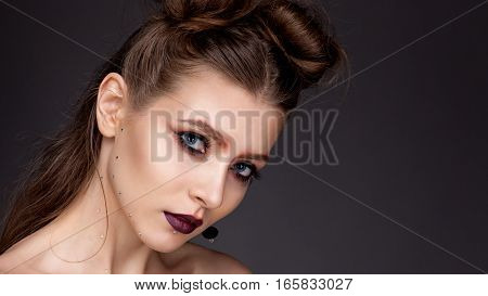 Portrait Of A Girl With Expressive Eyes