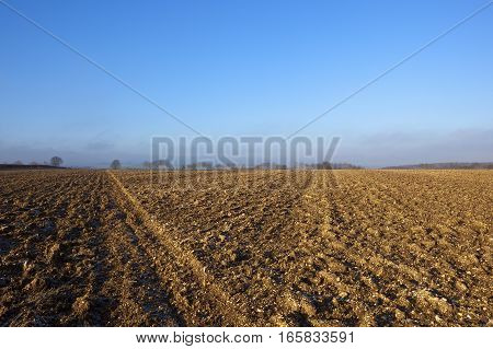 Plow Soil In Winter