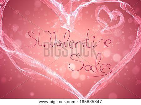 Valentines Day Sale Elegant Handwritten Background Illustration
