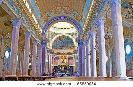 The Interior Of Cathedral Of Black Madonna Of Tindari