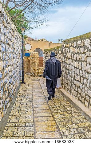 The Narrow Backstreet Of Safed