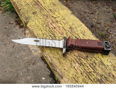 bayonet knife army. Kalashnikov set. Russian weapon