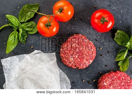 Fresh Raw Minced Beef Steak Burger