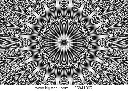 Image of the abstract pattern - kaleidoscopic pattern