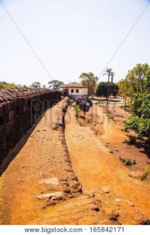 Old portuguese ruins and roads, Goa, India