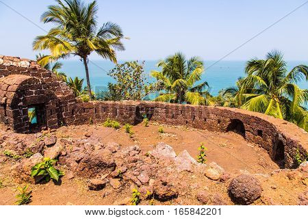 Old portuguese ruins, portuguese conquer of Goa, India