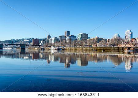 Downtown Portland Reflection
