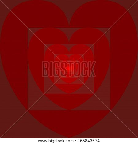 Heart inside heart, endless love... A Valentine's Day vector composition.