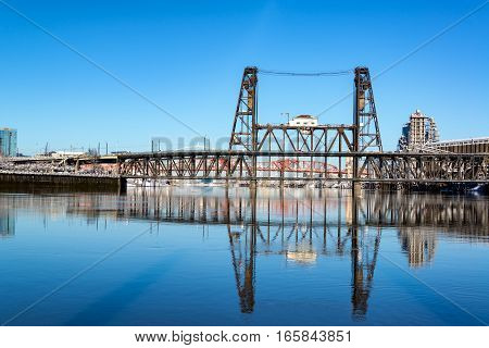 Steel Bridge Reflection