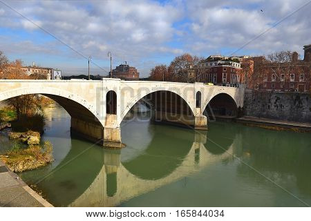 Ponte Principe Amedeo Savoia Aosta, also known as Ponte Principe, bridge across the Tiber in Rome, Italy