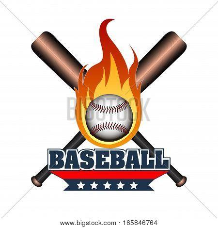 Isolated Baseball Emblem