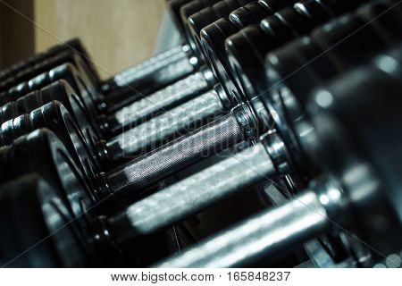 Metallic Or Steel Dumbbells
