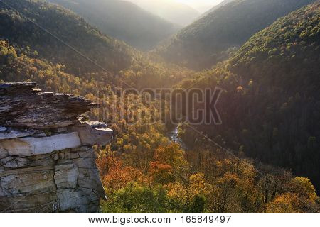 Colorful Valley in West Virginia in Fall