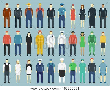 Profession People set. People avatar icons. Vector illustrations