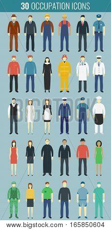 Profession People set. People avatar icons. Vector illustration