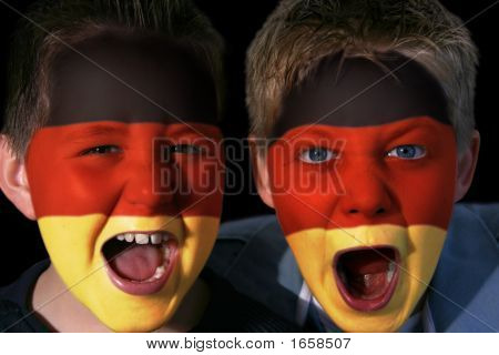 Young German Football Fans