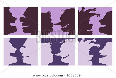 funny silhouettes