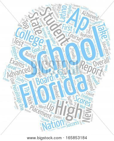 Florida Schools Get Great Ap Grades text background wordcloud concept
