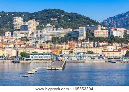 Ajaccio Cityscape, Harbor With Marina