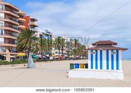 Calafell Resort Town In Sunny Summer Day