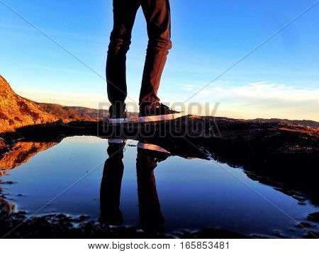 Standing at the edge of the world