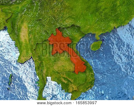 Laos In Red