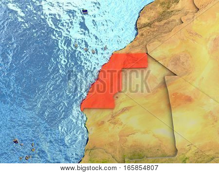 Western Sahara In Red