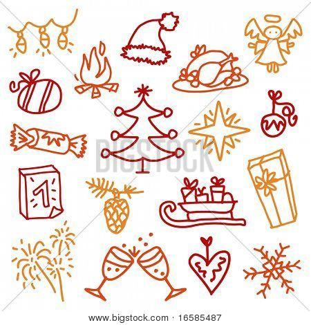 Christmas sketches 3