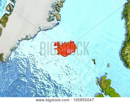 Iceland In Red