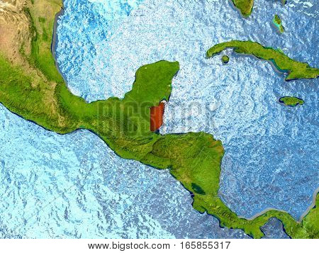 Belize In Red