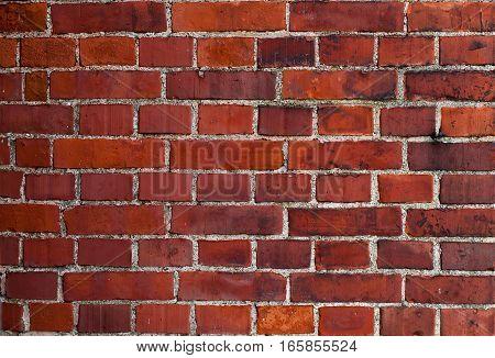 Vintage Wall Of Red Bricks