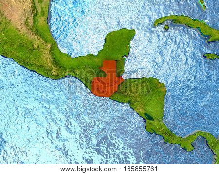 Guatemala In Red