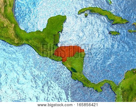 Honduras In Red