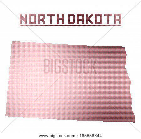 North Dakota Dot Map