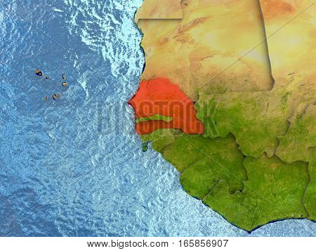 Senegal In Red