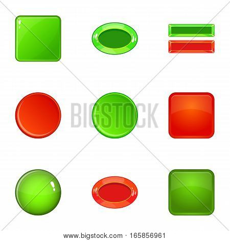 Switch element icons set. Cartoon illustration of 9 switch element vector icons for web