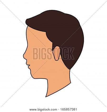 man face cartoon icon over white background. colorful design. vector illustration