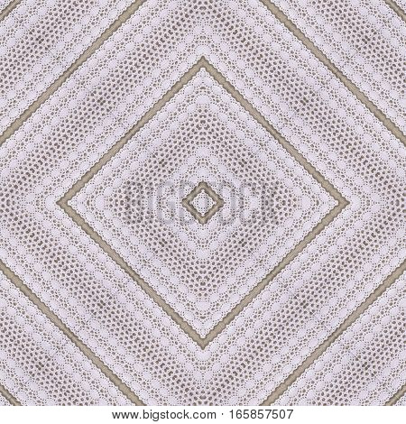 White organic cotton crochet lace background backdrop for scrapbook Christmas yuletide top view. Collage with mirror reflection. Seamless kaleidoscope montage for cushion pillow tablecloth cloth