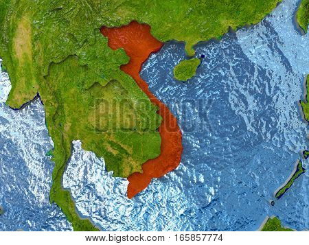 Vietnam In Red