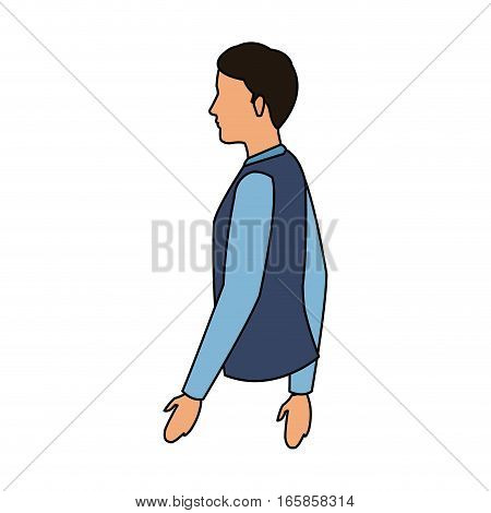 man cartoon icon over white background. colorful design. vector illustration