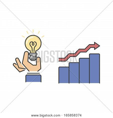 Business success vector line icons set isolated on white background. Competition sport award and team leader work style. Management leader concept element.
