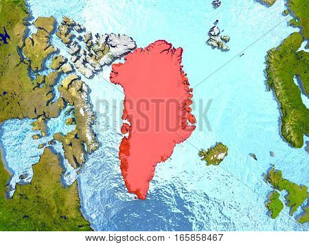 Greenland In Red