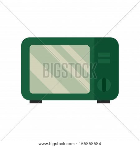 Microwave oven equipment vector illustration. Kitchenware appliance hot symbol electric tool. Domestic electrical cooking stove household technology.
