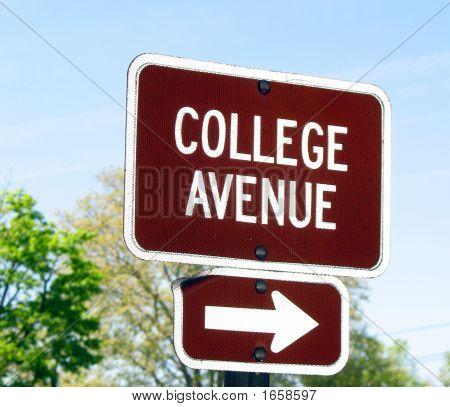 College Avenue Sign