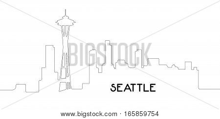 Isolated Outline Of Seattle
