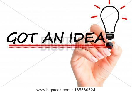 Creativity concept suggesting a new business idea